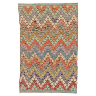 3'10 x 6'1 Handwoven Turkish Kilim Area Rug