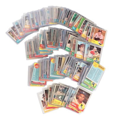 1963 Topps Baseball Cards with Stars and Hall of Fame Players