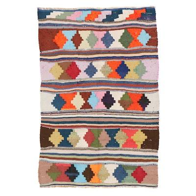 4'4 x 6'8 Handwoven Persian Kilim Area Rug