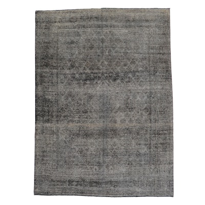 9'7 x 12'10 Hand-Knotted Persian Overdyed Room Sized Rug