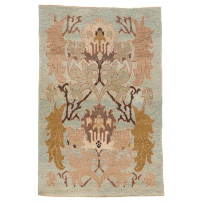 5'1 x 7'7 Hand-Knotted Turkish Donegal Area Rug