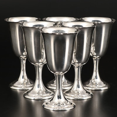 Alvin Sterling Silver Water Goblets, Mid to Late 20th Century