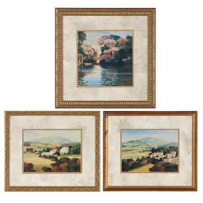 Offset Lithographs of French Countrysides After Max Hayslette