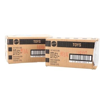 "Sealed Boxes Mattel Hot Wheels ""Minecraft"" 1:64 Scale Mine Carts"