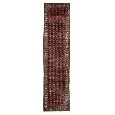 3'6 x 14'9 Hand-Knotted Indo-Persian Seraband Long Rug