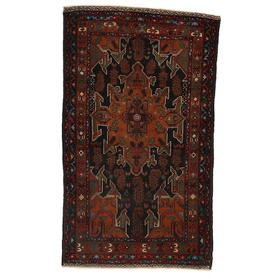 3'1 x 5'4 Hand-Knotted Afghan Baluch Area Rug
