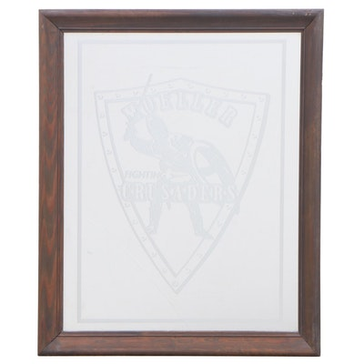 """Crest Products """"Moeller Fighting Crusaders"""" Reverse-Etched Mirror"""