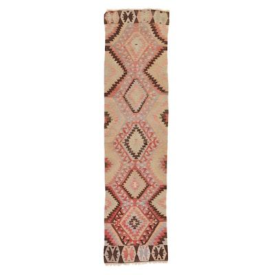2'8 x 10'7 Handwoven Turkish Kilim Carpet Runner