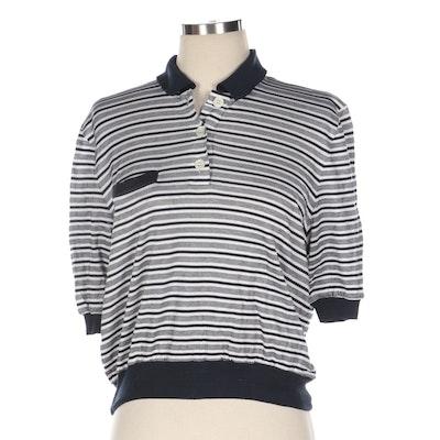 Valentino Garavani Studio Horizontal Stripe Polo Shirt
