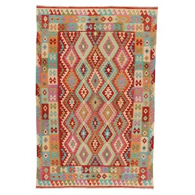 6'5 x 10' Handwoven Afghan Kilim Area Rug
