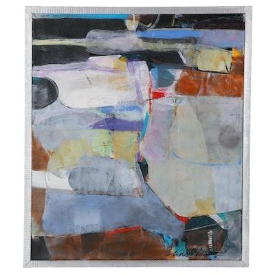 "Mark Whitmarsh Acrylic Painting ""Shade Descends,"" 2021"