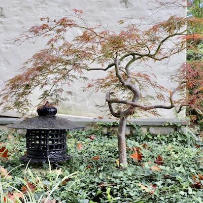 Japanese Pagoda Cast Iron Garden Statue