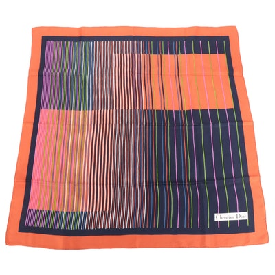 Christian Dior Patterned Silk Scarf