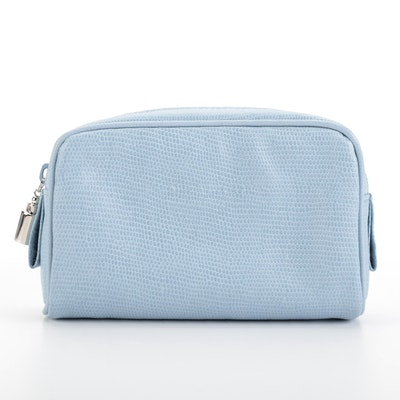 Penhaligon's Cosmetic Bag in Light Blue Leather