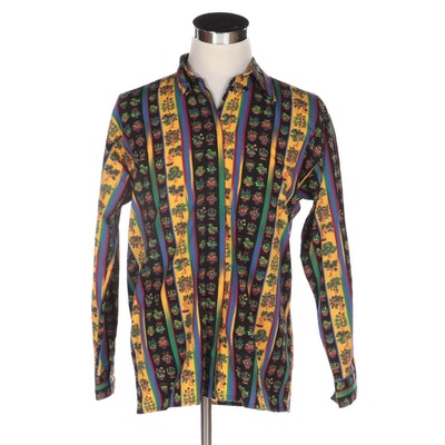 Men's Versace Jeans Couture Graphic Print Button-Down Shirt