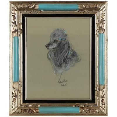 Charlie Pico Pastel Dog Portrait, 1976