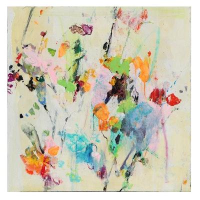 "Mark Whitmarsh Acrylic Painting ""Divine Garden"" Series, 2021"