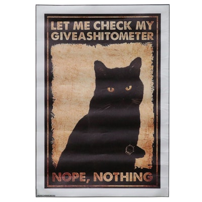 Contemporary Giclée of Black Cat, 21st Century