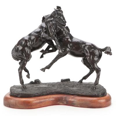 "Jack Riley Bronze Sculpture ""The Intruder,"" 20th Century"