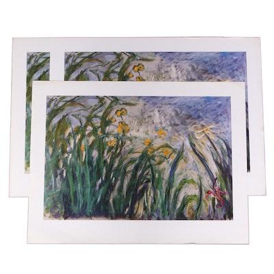 "Offset Lithographs After Claude Monet ""Les Iris"""