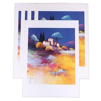 "Offset Lithographs After Roger Keiflin ""Crépuscule,"" 1997"