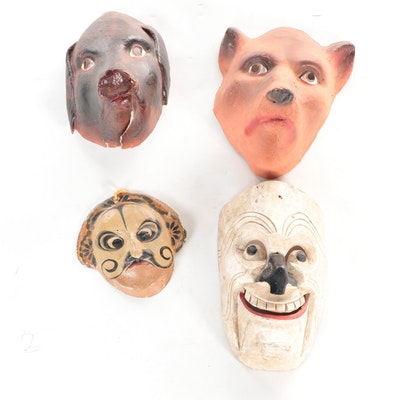 Mexican Handcrafted Festival Mask and More