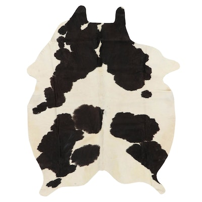 4'10 x 6'2 Natural Cow Hide Area Rug