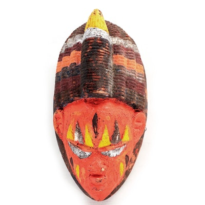 Yoruba-Inspired Carved and Painted Mask, West Africa