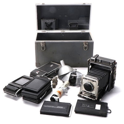 Graflex Speed Graphic Large Format Camera with Other Cameras and Accessories