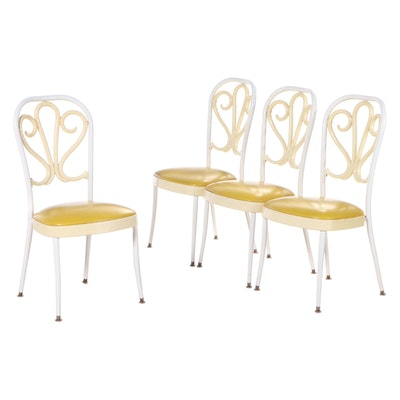 Four Daystrom Modernist Metal, Plastic, and Vinyl Side Chairs, dated 1975