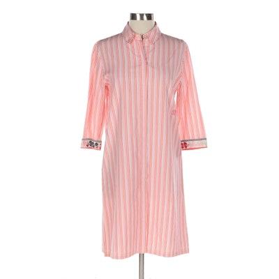 Emilio Pucci Vertical Striped Shirt Dress