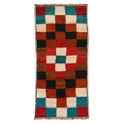 3'4 x 7' Hand-Knotted Persian Gabbeh Area Rug
