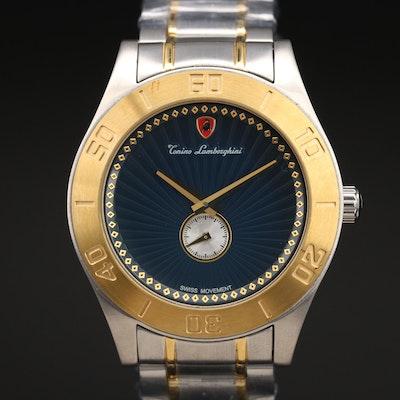 Tonino Lamborghini Two Tone Stainless Steel Wristwatch