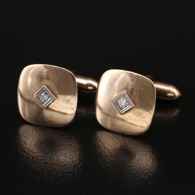 Dolan & Bullock 10K Diamond Cufflinks