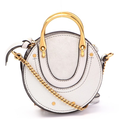 Chloé Pixie Mini Crossbody Bag in Cool Grey Leather and Suede