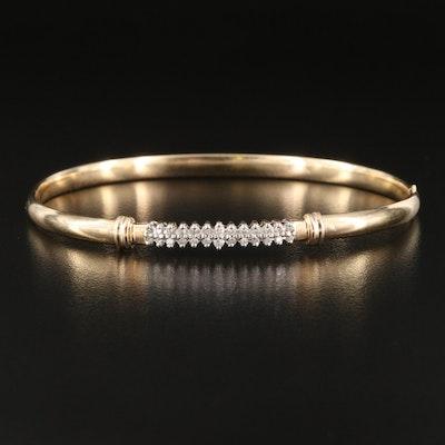 Alwand Vahan 14K 0.27 CTW Diamond Hinged Bangle