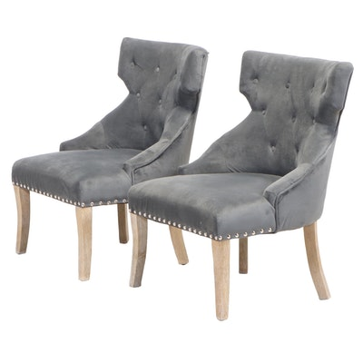 Pair of Office Star Products Buttoned-Down Side Chairs