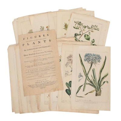 Hand-Colored Engravings With Portfolio Including John Miller and More