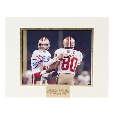 Joe Montana and Jerry Rice Signed San Francisco 49ers NFL Photo Print