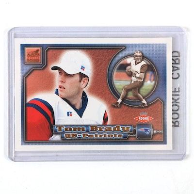 2000 Tom Brady Pacific Aurora #84 Rookie Football Card