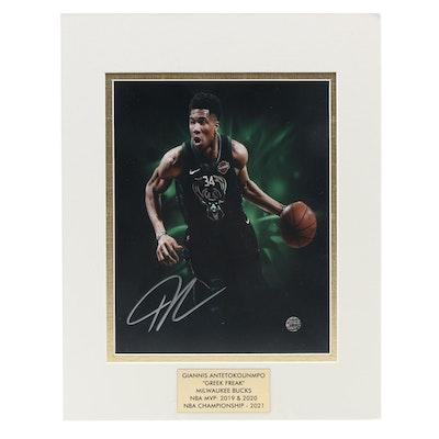 """Giannis Antetokounmpo Signed """"Greek Freak"""" Milwaukee Bucks NBA Photo Print"""
