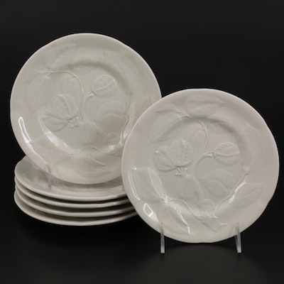 Williams-Sonoma Ceramic Plates with Floral and Fruit Motif