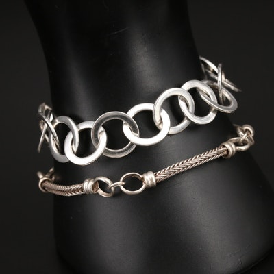 Sterling Chain Bracelets