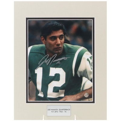 Joe Namath Signed Quarterback New York Jets (1965-1976) NFL Photo Print