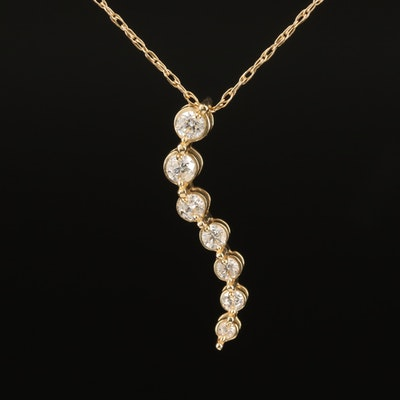 14K 0.25 CTW Diamond Journey Necklace