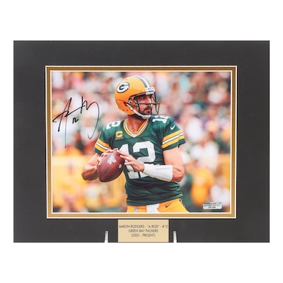 """Aaron Rodgers """"A-ROD"""" Signed Green Bay Packers (2005-Present) Photo Print, COA"""