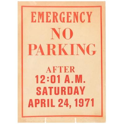 Vietnam War Anti-War Washington D.C. Sign, April 24, 1971