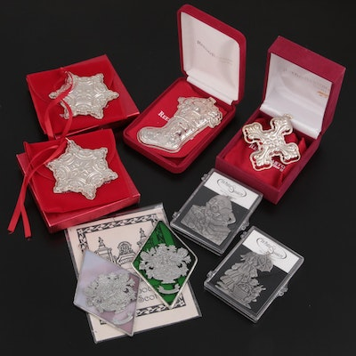 Reed & Barton, Wallace Sterling Silver and Other Pewter Ornaments