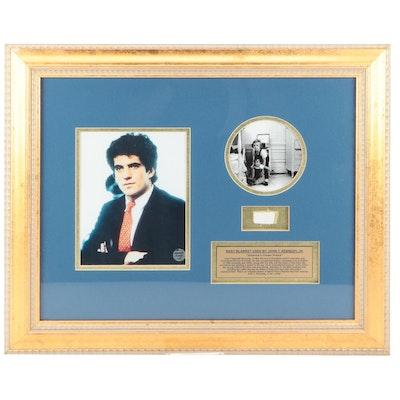John F. Kennedy Jr. Artifact and Photo Print Framed Display
