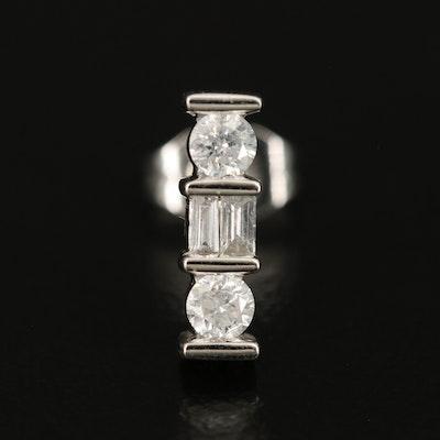 Single 14K 0.18 CTW Diamond Stud Earring